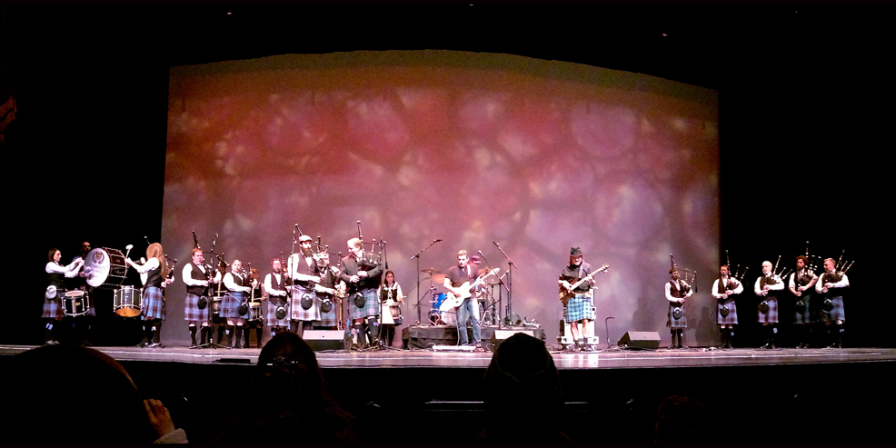 Prydein: Flynn Center with Catamount Pipe Band